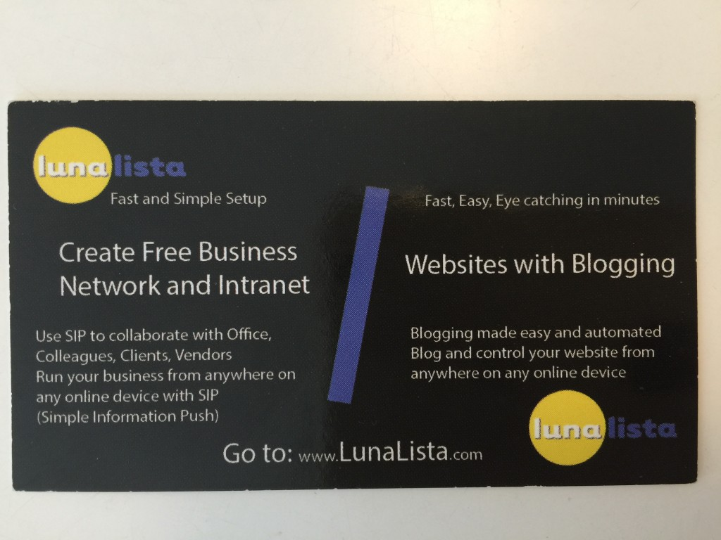 LunaLista your local website service