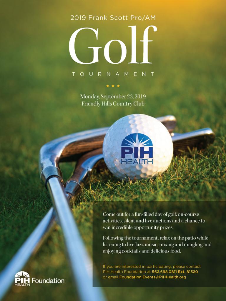 PIH Golf Tournament flyer