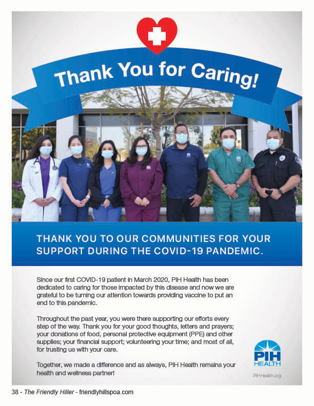 PIH Health Thank You For Caring